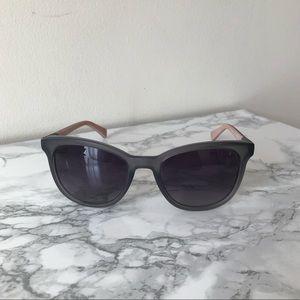 Women's Smoke Grey/Pink Acetate Sunglasses